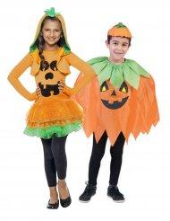 Disfraz de pareja calabaza Halloween niño