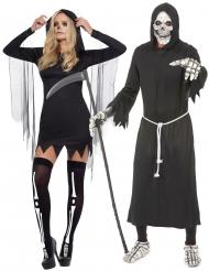 Disfraz de pareja segador Halloween