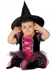 Disfraz bruja rosa bebé