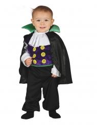 Disfraz mono de mini conde  vampiro bebé