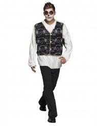 Disfraz mejicano blanco y negro adulto Día de los muertos