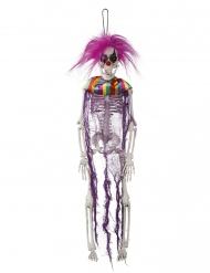 Decoración esqueleto payaso para colgar 40 cm