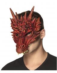 Semi máscara gomaespuma dragón rojo adulto