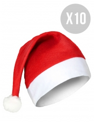 Pack 10 gorros de Navidad stándard adulto