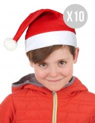 Pack 10 gorros de Navidad niño
