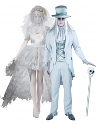 Disfraz de pareja novios fantasmas Halloween