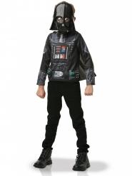 Camiseta con capa y máscara Dark Vader™ niño