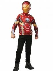 Camiseta con máscara Iron Man™ niño