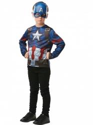 Camiseta con máscara Capitán América™ niño