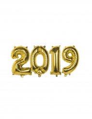 Globos número 2019 aluminio dorado 36 cm