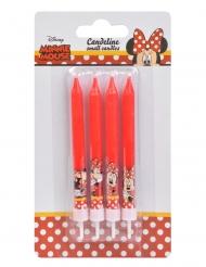 4 velas de cumpleaños Minnie™ 9 cms