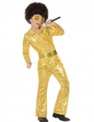 Disfraz disco oro niño