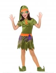 Disfraz de elfo de los bosques niña