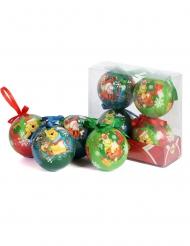 4 Bolas de Navidad Winnie Pooh™ 7,5 cm