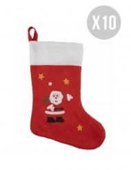 Kit 10 botas de Papá Noel