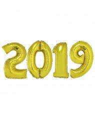 Kit globos gigantes 2019 aluminio dorado