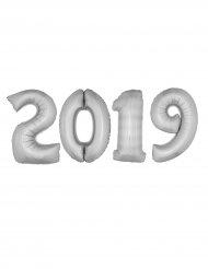 Kit globos gigantes 2019 aluminio plata