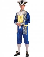 Disfraz marqués hombre azul y oro