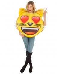 Disfraz Emoji™ gato ojos de corazon adulto