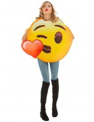 Disfraz Emoji™ beso de corazón adulto
