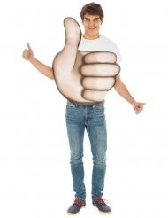 Disfraz Emoji™ pulgar adulto