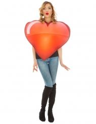 Disfraz Emoji™ corazón adulto