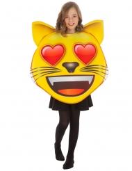 Disfraz Emoji™ gato con ojos de corazón niño