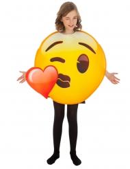 Disfraz Emoji™ beso de corazón niño