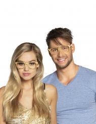 3 Gafas doradas adulto