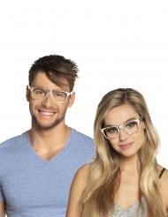 3 Gafas plateadas adulto