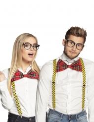 Kit gafas y pajarita freaky adulto