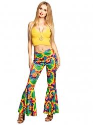 Pantalón patas de elefante hippie adulto