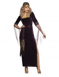 Disfraz lady medieval violeta mujer
