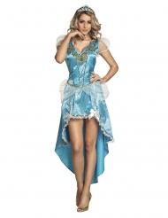 Disfraz princesa encantada azul mujer