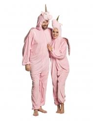 Disfraz unicornio rosa adulto