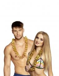 20 Collares Hawái dorados
