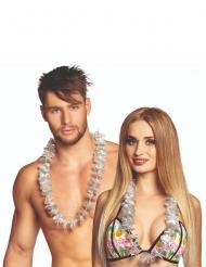 20 Collares Hawái plateados