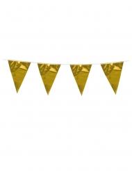Guirnalda mini banderines dorados 3 m