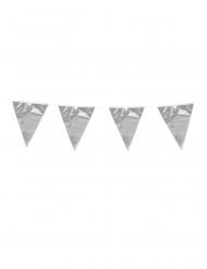 Guirnalda mini banderines plata 3 m