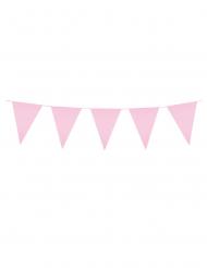 Guirnalda mini banderines rosa palo 3 m