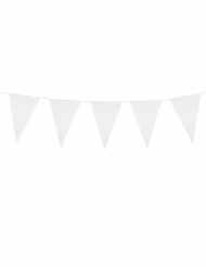 Guirnalda mini banderines blancos 3 m