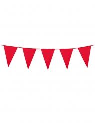 Guirnalda mini banderines rojos 3 m