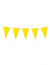 Guirnalda mini banderines amarillos 3 m
