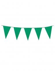 Guirnalda mini banderines verdes 3 m