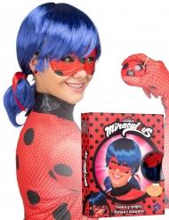 Peluca y máscara Ladybug™ adulto en caja