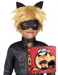 Cofre peluca y máscara Cat Noir Miraculous™ niño