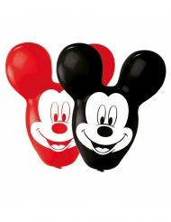 4 Globos de látex Mickey Mouse™ orejas grandes rojo y negro 55.8 cm