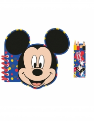 Kit papeleria libreta y lapiceros de colores Mickey Mouse™