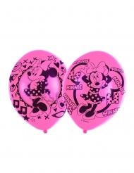 6 Globos látex Minnie Mouse™ rosa 27.5 cm