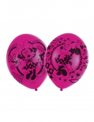 6 Globos látex Minnie Mouse™ 27.5 cm